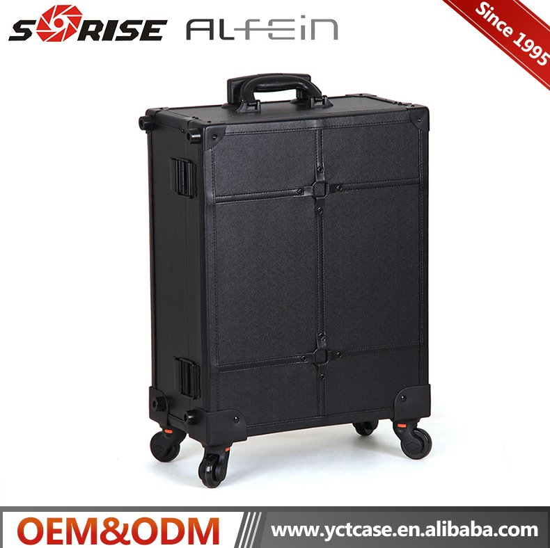 Professional makeup trolley case with lights portable makeup studio custom with logo