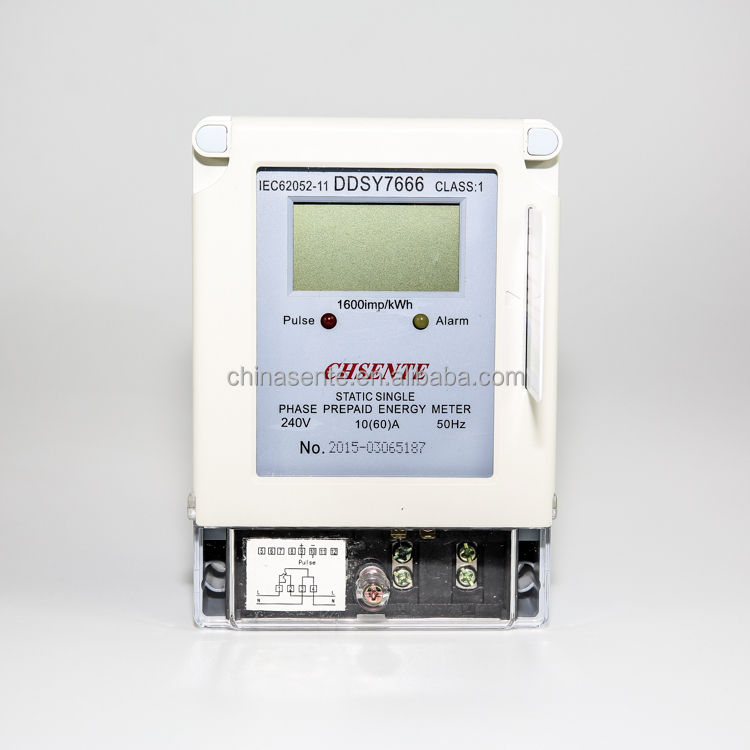 DDSY7666 single phase electrical IC smart card meter prepaid electricity meter manufacturers