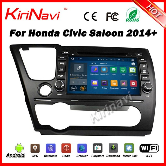 Kirinavi WC-HC8040 android 5.1 car multimedia system for honda civic 2014 - 2017 dvd player radio saloon navigation audio wifi