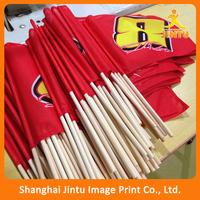Sublimation printing promotonal 110g polyester custom hand waving flag