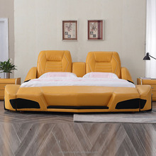 Lamborghin Style Children Genuine Leather Sports Car Bed