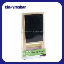 wooden frame mini blackboard with stand plus 3pcs chalks