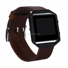 High Quality Leather Watch Wristband Strap Band for Fitbit Band