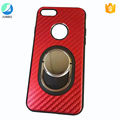Kickstand phone case for iphone 7 plus high quality carbon fiber cell phone case