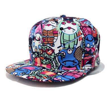 Custom American style outdoors sports Snapback cap hiphop baseball trucker flower colorful multi-color hat