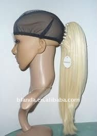 Blond Synthetic Clip-in Hair Ponytail