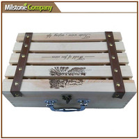 Wholesale Wooden wine gift packaging box