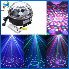 Sound Actived LED Rotating Magic Ball Stage Lights Party Lights with Remote Control For KTV Xmas Wedding Show