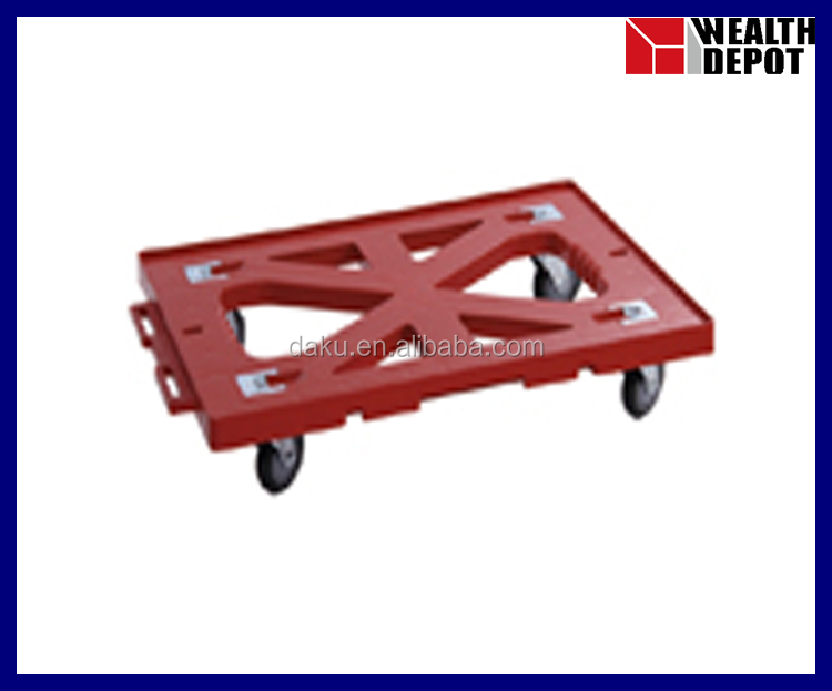 Plastic Trolley with 4 wheels for Material Handling