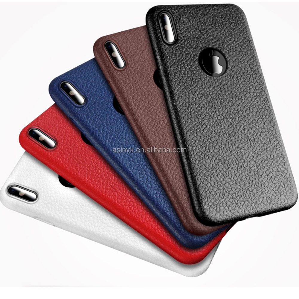 2017 New Product Best Quality Luxury Skin Soft TPU Case with leather features for iPhone 8