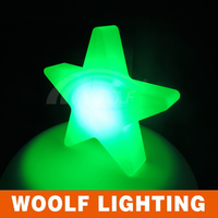 Hot products outdoor decoration light hanging plastic stars