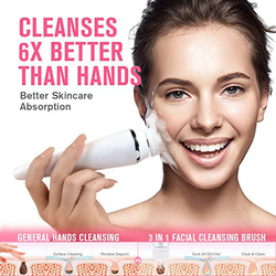 Waterproof Electric Face Brush Cleansing Deep Clean Skin Facial Brush Wash Cleanser Sonic Spin Exfoliating Brush Cleanser