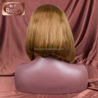 Glueless Peruvian virgin hair full lace human hair wigs bob for black woman short cut human hair wig in stock