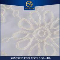 Textile supplier embroidered logo fabric, embroidery lace fabric hand sequin beading, hand stone embroidery fabric