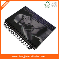 Spiral Notebook of spiral paper with full imprint hard cover