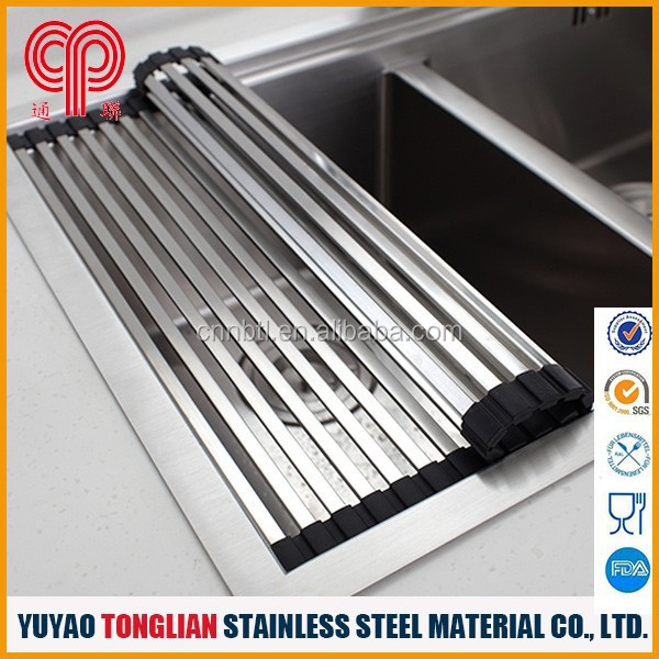Stainless steel pipe foldable drain rack