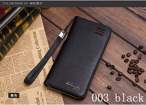2016 new arrival  leather men wallets quality PU long clutch fashion designer card holders business handbags clips purse pocket