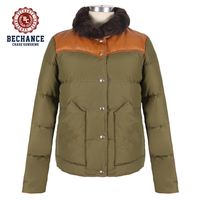 80% grey duck down 20% feather ultra warm with cow leather shoulder impact lamb fur collar men duck down jacket