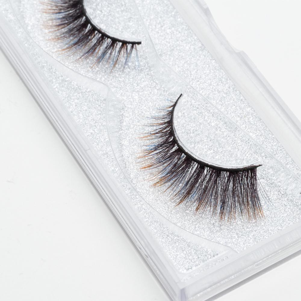 Seashine <strong>China</strong> golden supplier 3d faux mink strip silk lashes false lashes fancy color eyelash
