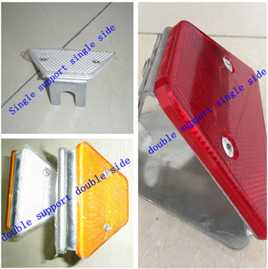 Highway road guardrail reflective trapezoidal delineator