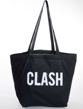 Promotional Heavy100% Cotton Shopping Tote Bags Black Canvas Bag