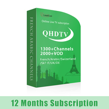 Arabic IPTV 1 Year QHDTV Package 1500+ Channels Internet Live TV All Country Channels