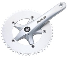 single speed bicycle chainwheel and crankset with alloy chainring AL8-230