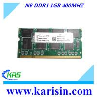 Low density ram memory scrap NB ddr 1gb ram