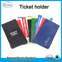 Factory supply PVC travel ticket wallets , lottery ticket holder