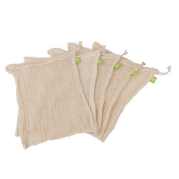 Eco-friendly vegetable/fruit shopping cotton reusable mesh produce bags