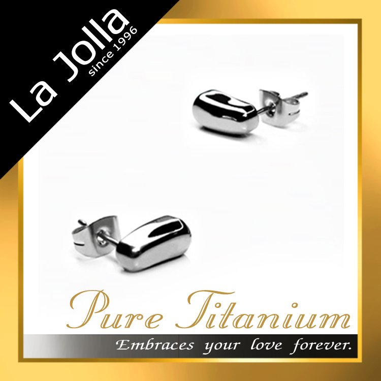 Top Quality Jewelry for Women Anti Allergy Titanium Silver Earrings