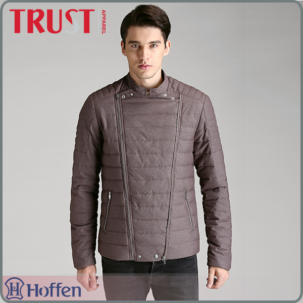 Custom fashion top quality polyester men top brands winter clothing