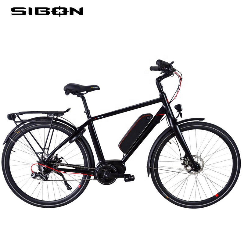 "SIBON B0510170 CE 250w brushless motor hydraulic disc brake integration fork 8 speed Chinese <strong>city</strong> new 27.5"" electric bicycle"