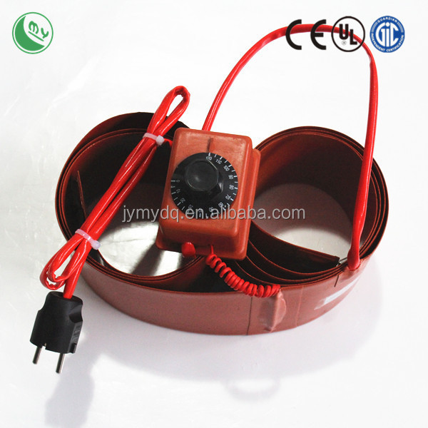 silicone rubber heater 12v heater electrical flexible hose orange