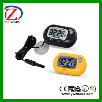 LCD dispaly waterproof colorful digital fridge thermometer