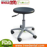 TR-006 PU Drive Medical Exam Room Rolling Dental Doctors Stool adjustable height lab stool