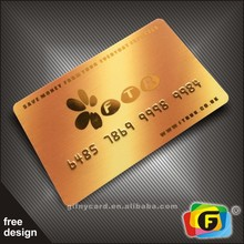 Offset Printing Plastic Gold Foil Embossed Business Cards