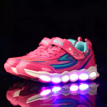Wholesale kids led light shoes sport running kids shoes