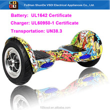 US most popular 10 inch smart balance scooter hoverboard remote control, UL Certificate battery hoverboard one year warranty