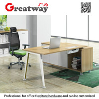 Wooden return computer home office writing reception furniture
