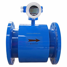Measure alkali,salt water,vinegar flange connection rubber lined electromagnetic flowmeter