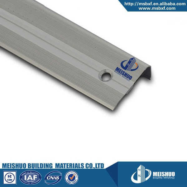 Aluminium profile anti-slip safety metal stair nosing for floor tile