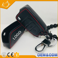 New style genuine leather flip 3 button car key case cover shell for VW GOLF 7 MK7