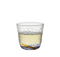 hand blown 90ml water wave thick glass tea cup