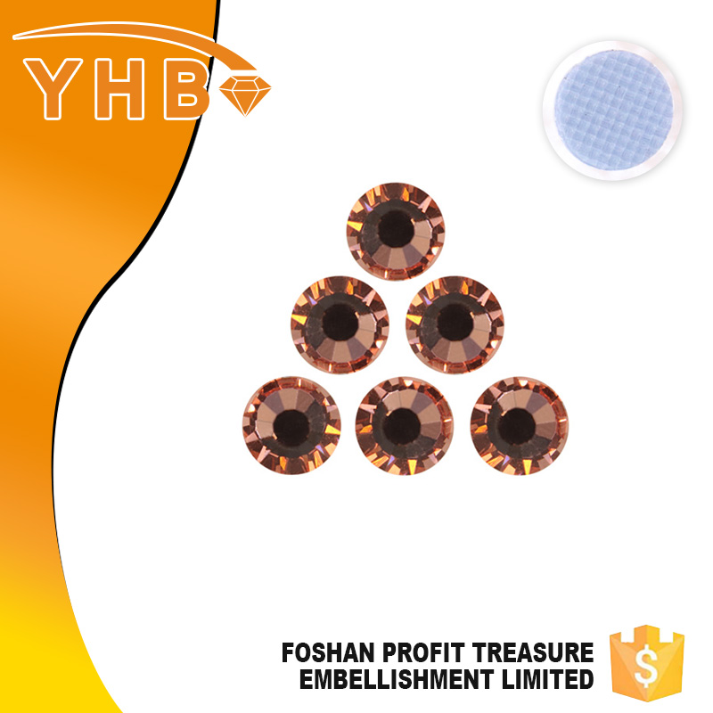YHB 2016 new design popular clear Apricot AB colored glass stones for jewelry