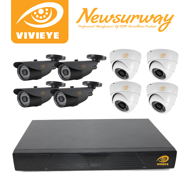 newsurway 8CH Channel DVR Home CCTV Outdoor Security Surveillance Camera System ahd camera kit
