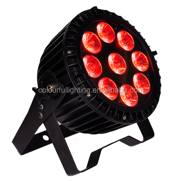 High quality Outdoor 9x18W 6in1 RGBWA UV Waterproof Mini LED Lights
