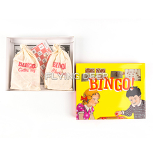 Custom Wooden Bingo Game For Children With Color Box