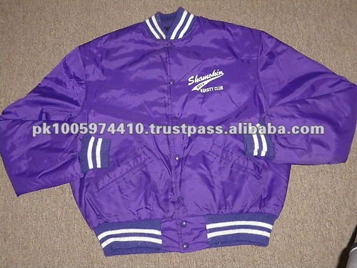2013 Mens Satin Varsity Jackets