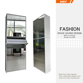 DBT Simple Style Morden MDF 5 layers with mirror shoe cabinet
